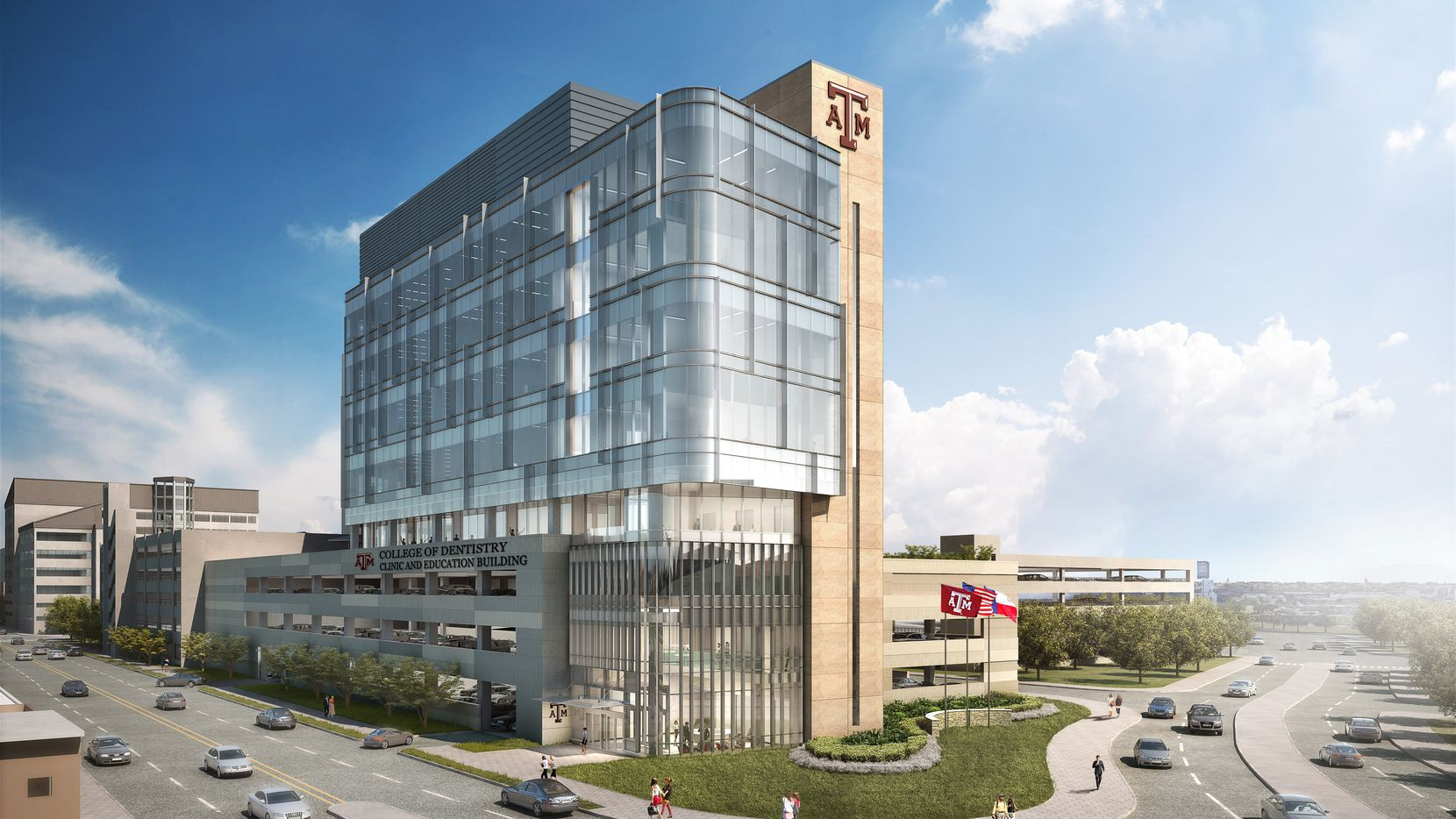 Texas A&M University plans to build a nine-story Clinic and Education building to its dentistry program in Dallas.