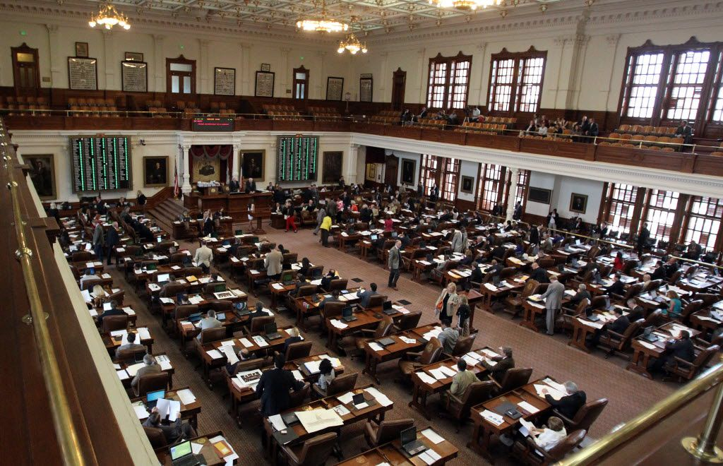 A look at the state House of Representatives chamber during a vote at the Sunday session for the 83rd Texas Legislature at the State Capitol in Austin on Sunday, May 26, 2013.