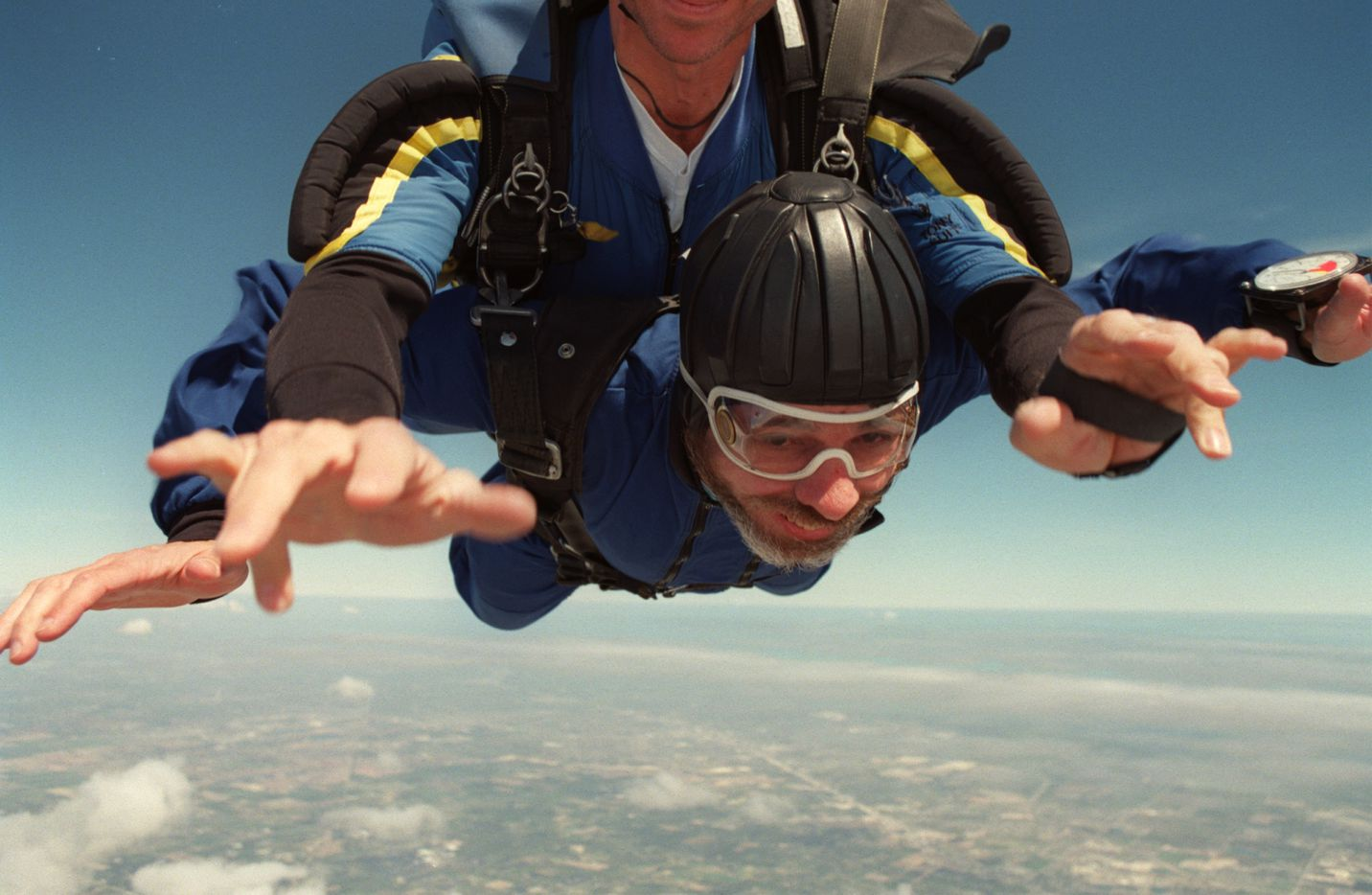 Jeffrey Weiss took the plunge and went skydiving in 2004.