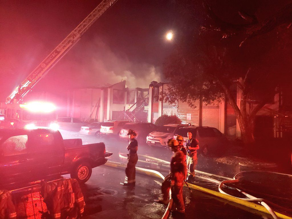 An overnight fire in Far Northeast Dallas started when a 7-year-old boy was playing with matches in an outdoor closet. Twelve units were destroyed in the fire