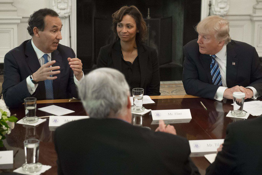 President Donald Trump, at a White House meeting with airline executives, has so far been ambivalent about the gulf carriers dispute.