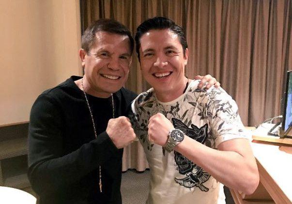 Los excesos con las drogas y el vínculo con el narco son parte de la serie de El César, basada en la vida del boxeador Julio César Chávez (izq.)./ AGENCIA REFORMA
