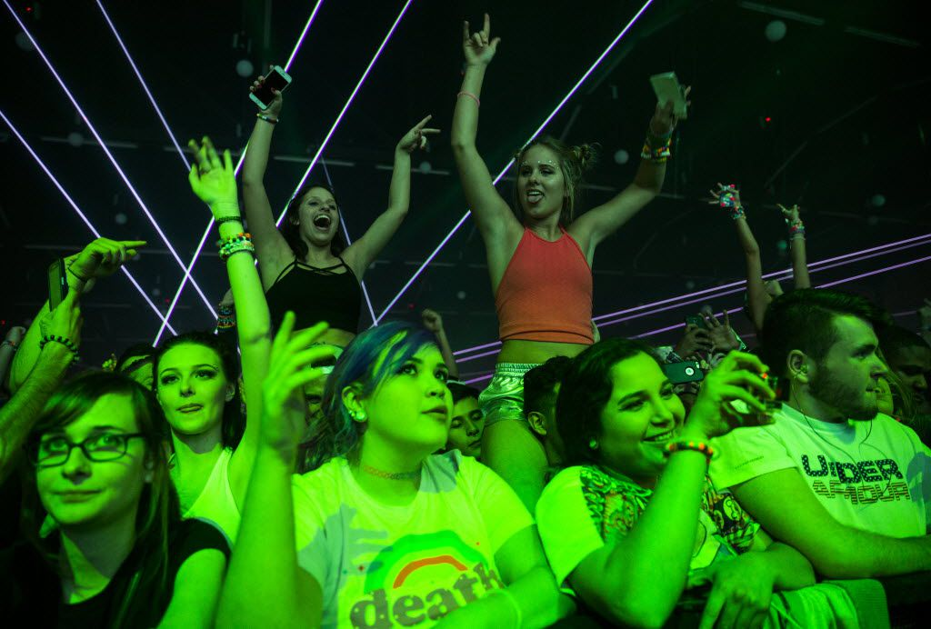 The Lights All Night New Year's Eve party on Thursday, December 31, 2015 at Dallas Market Hall in Dallas.  (Ashley Landis/The Dallas Morning News)