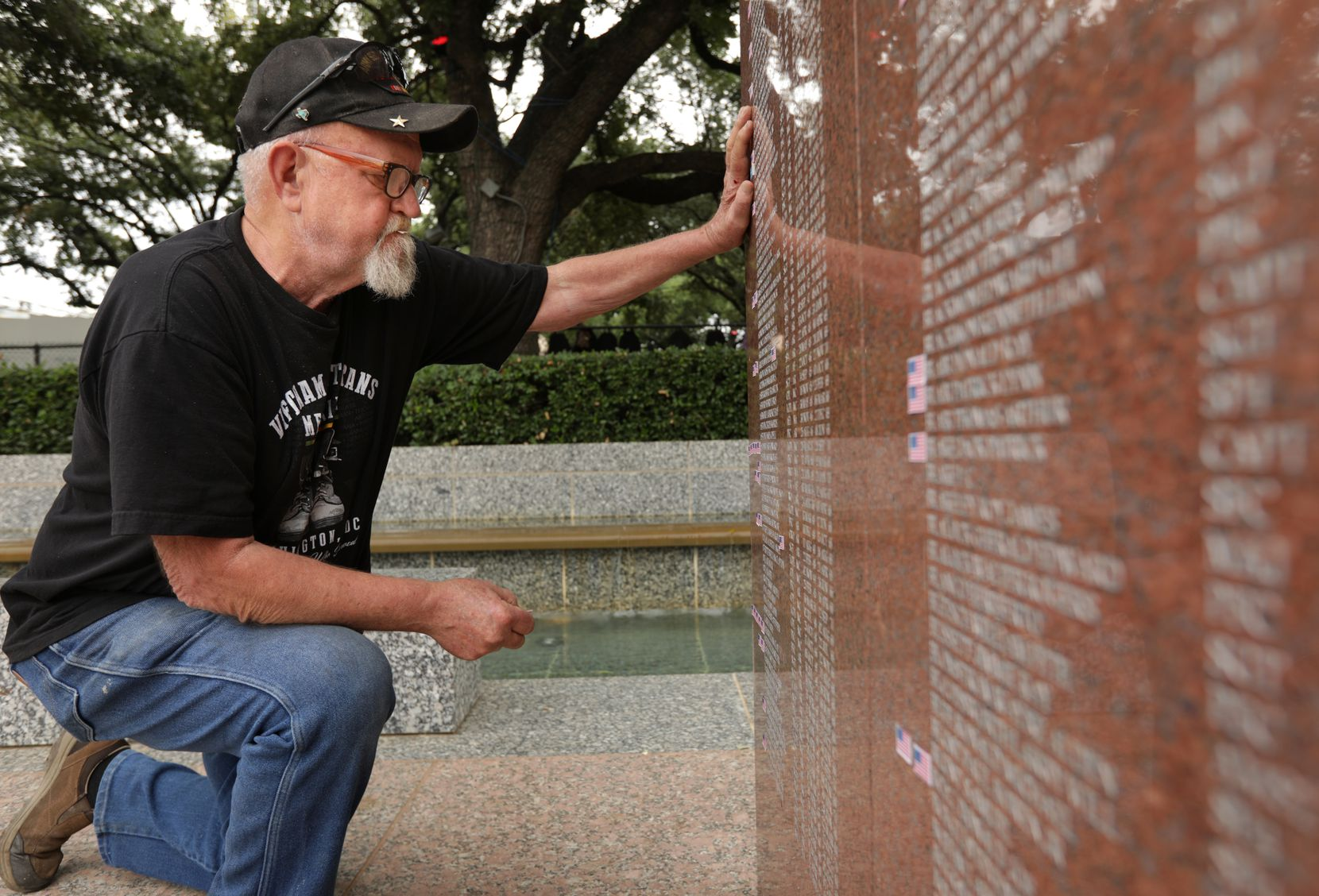 "Vietnam veteran Rickey Deen, who drove from Mansfield on Monday to attend the State Fair, says he visits the monument each year.  ""I knew more of the people on this wall than I'd like to admit,"" he said."