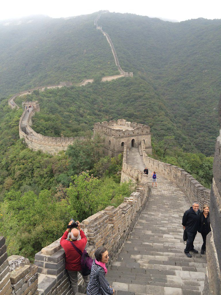 A view of the Mutianyu section of the Great Wall of China.