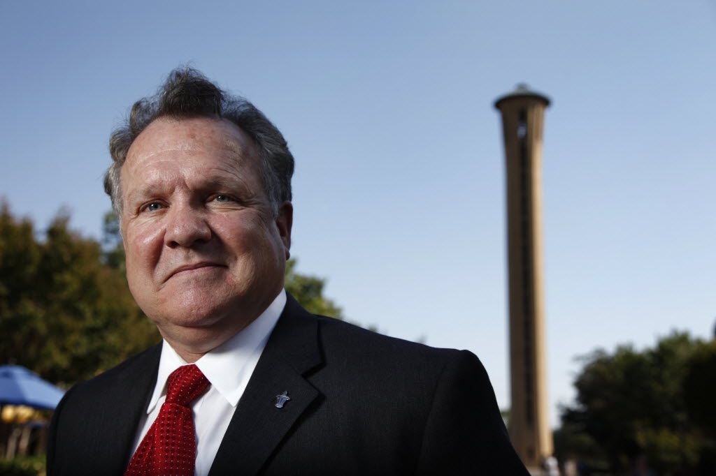 Thomas Keefe, outgoing president of the University of Dallas, described his removal as abrupt and suggested the parting was difficult.