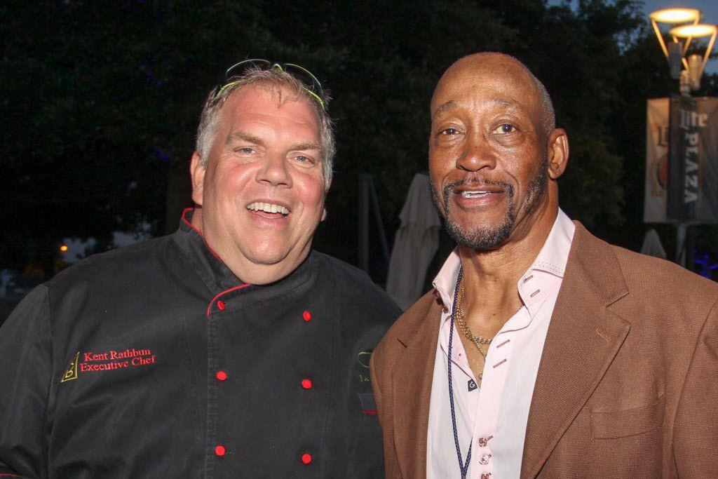 Chef Kent Rathbun with former Dallas Cowboys star Preston Pearson at Taste of the NFL.
