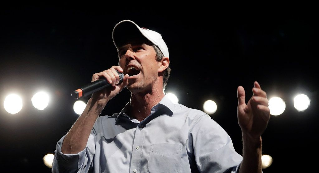 ,Rep. Beto O'Rourke speaks during a campaign rally in El Paso.