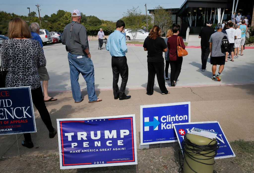 Some Texans will go to the polls this year and learn they are not properly registered to vote. Texas has one of the most restrictive voter registration laws in the nation. (Tony Gutierrez/The Associated Press)