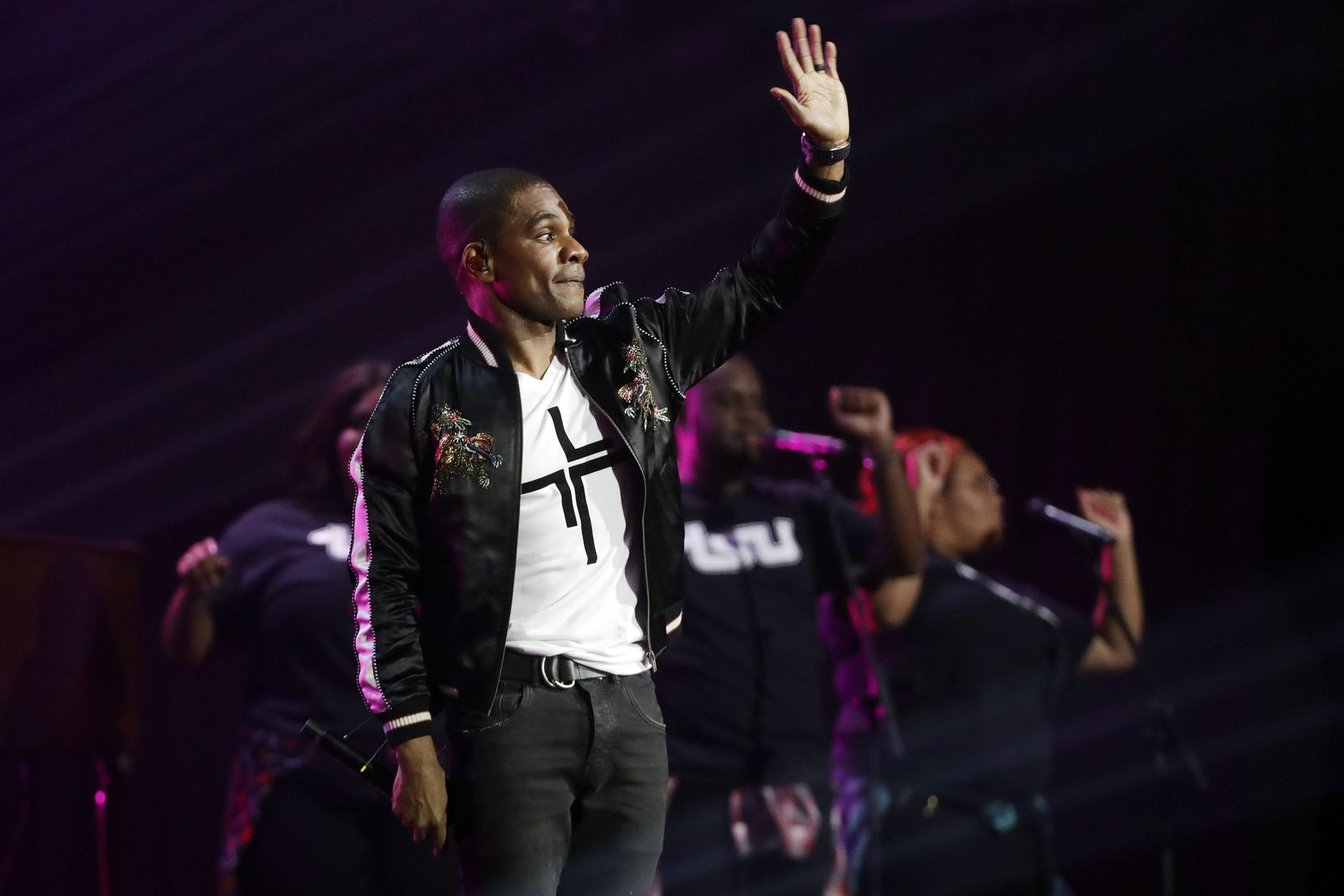 Kirk Franklin performs during the Dove Awards on Tuesday, Oct. 15, 2019, in Nashville, Tenn.