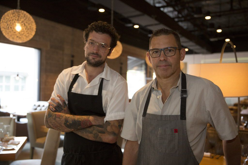 John Tesar (right) joined forces with Oak's owners, Apheleia Restaurant Group, in January 2015 as chef-partner. In May he brought on chef de cuisine Ross Demers to run the kitchen.