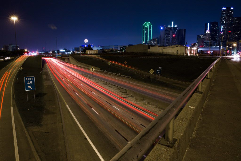 The view of Interstate 30 from the S. Harwood Street bridge on Saturday, June 18, 2016 in Dallas.