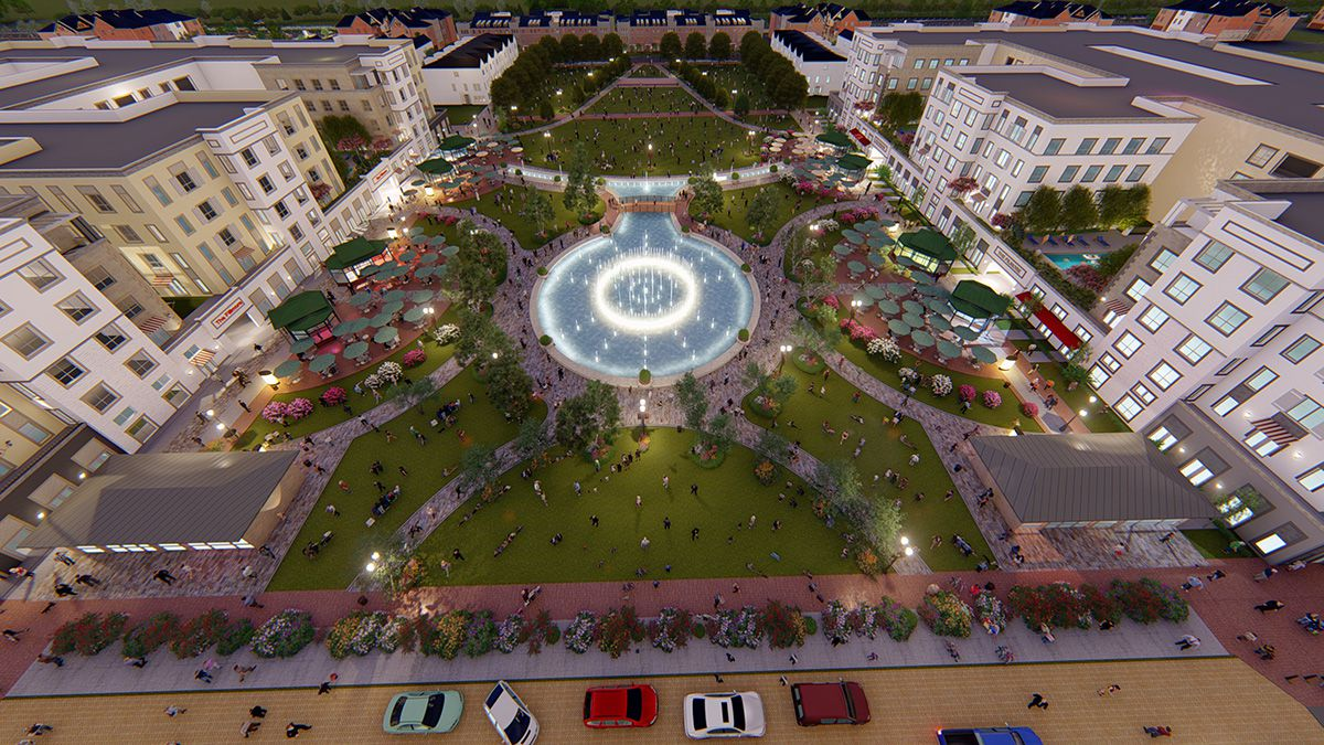 Centurion Development's plans to redevelop the Collin Creek Mall site include a Crystal Lagoon water feature.
