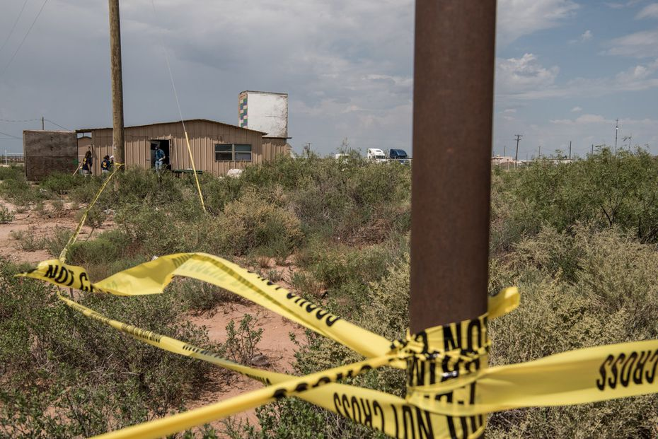 FBI agents searched a home Sunday in west Odessa believed to be linked to a suspect in a deadly shooting spree.