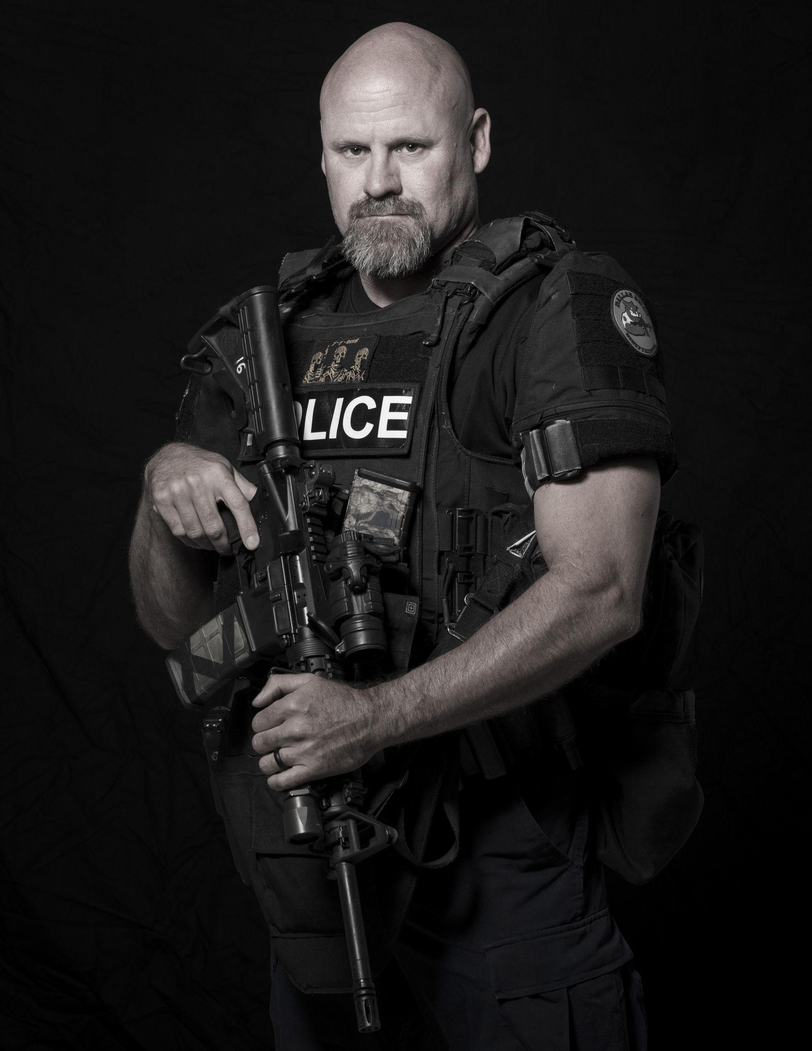 Matt Banes, un experimentado policía antinarcóticos, que participó en el enfrentamiento con el pistolero que emboscó a la policía el 7 de julio de 2016. SMILEY N. POOL/DMN