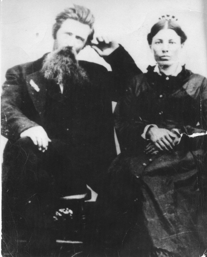 Charles and Caroline Ingalls in the late 1870s or early 1880s.