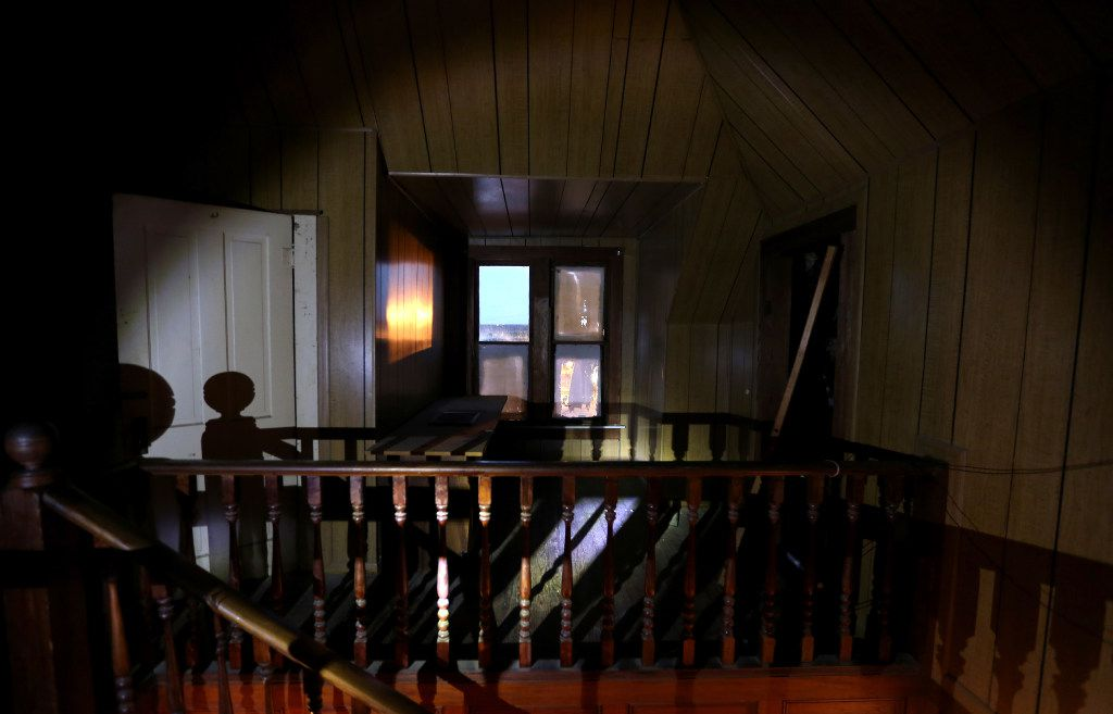 The second floor of the Haunted Hill House in Mineral Wells, Texas on Friday, May 12, 2017. (Rose Baca/The Dallas Morning News)