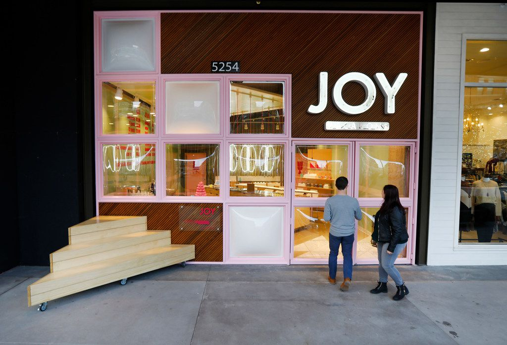Can you find the door? It's somewhat hidden at the Joy Macarons location in the Shops at Clearfork in Fort Worth.