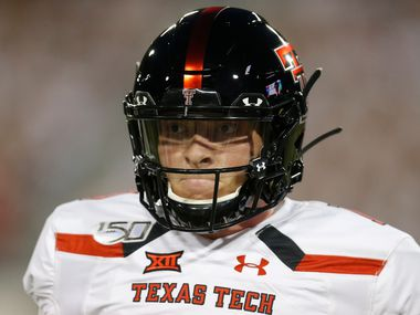 Texas Tech quarterback Alan Bowman (10) during an NCAA football game against Arizona on Saturday, Sept. 14, 2019 in Tuscon, Ariz.