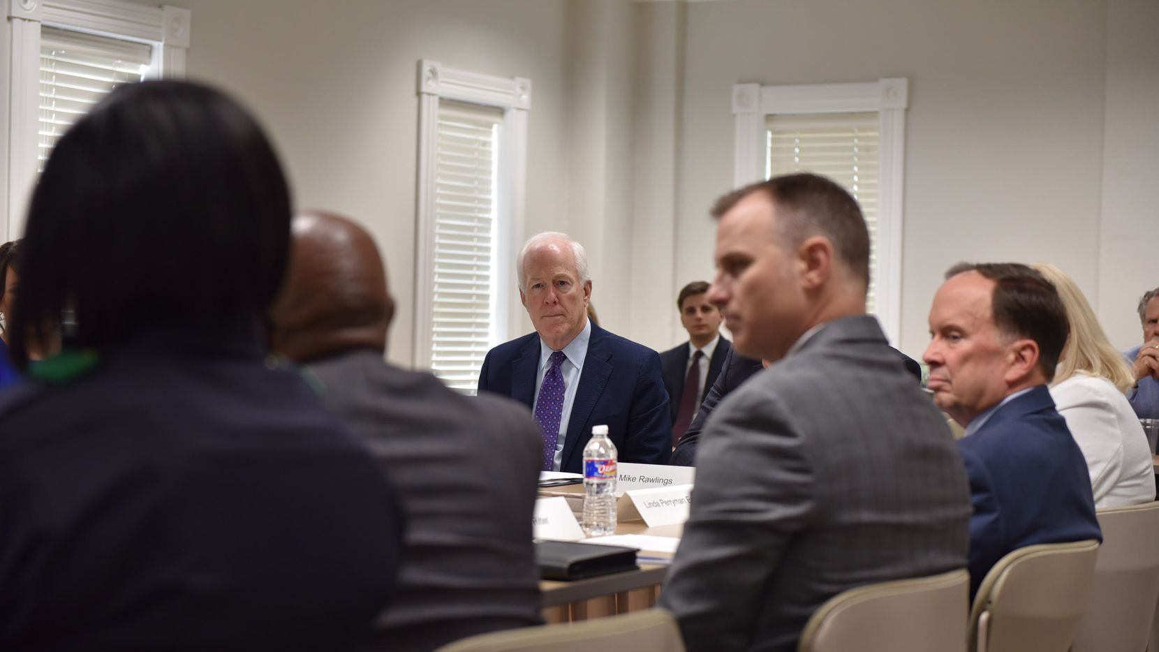 Sen. John Cornyn, R-Texas, takes a special interest in mental health. He was briefed Friday on the RIGHT (Rapid Integrated Group Healthcare Team) pilot program, which pairs counselors with cops to better respond to mental health calls in Southern Dallas.