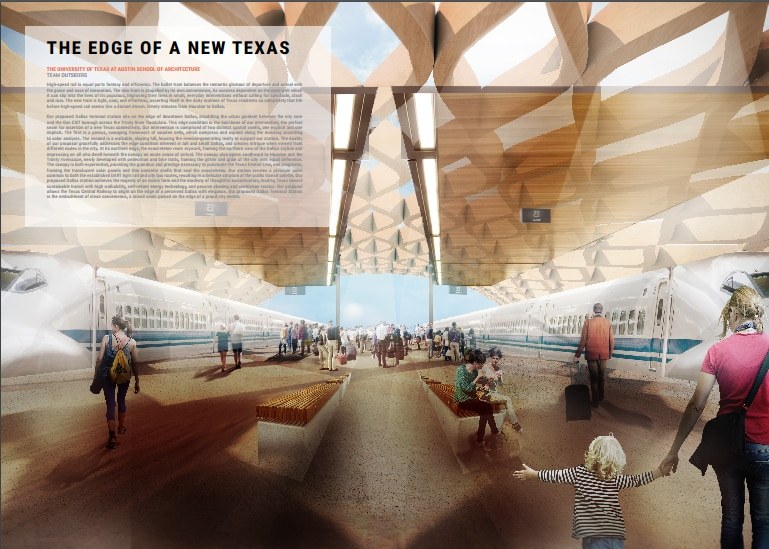 The winning proposal for the urban design prize, by Dana Moore, Nathan Chen, UJ Song, Hannah Williams and Alex Davila of UT-Austin.
