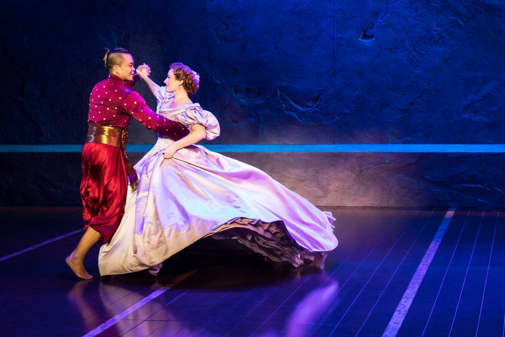 Jose Llana and Laura Michelle Kelly as the King and Anna in The King and I, the Tony Award-winning Lincoln Center revival of the Rodgers and Hammerstein classic, presented by AT&T Performing Arts Center at Winspear Opera House Dec. 19-31, 2017.
