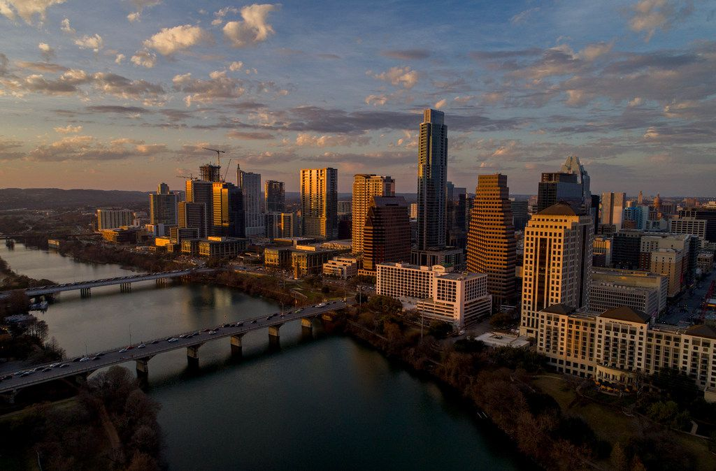 """This skyline view of Austin shows how the city has grown from """"a scruffy college town"""" to a technology capital."""