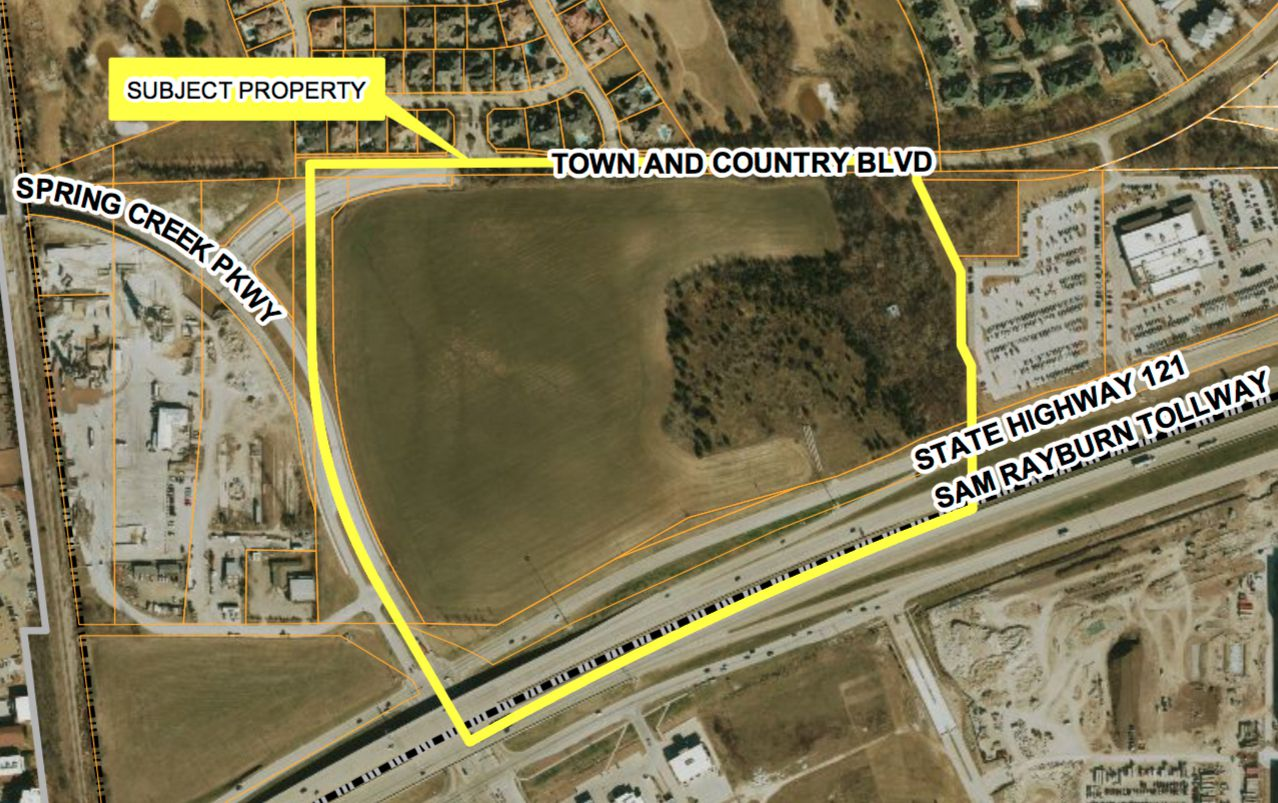 The planned development is just across the highway from the $3 billion Legacy West project.
