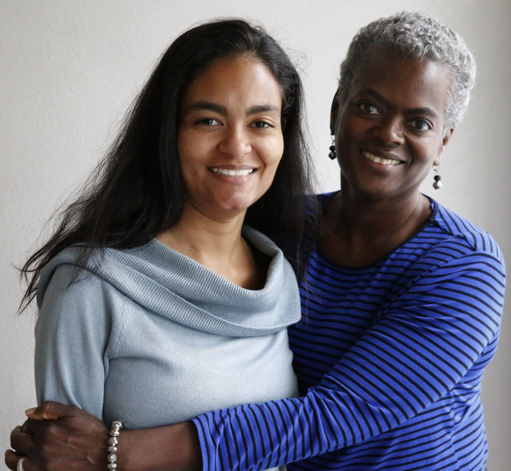 Prisca LeCroy, left and her mother, Linda Shrewsbury have developed, Cursive Logic, a new method to teach cursive writing. Photographed in Prisca LeCroy's east Dallas house Tuesday November 3, 2015. (Ron Baselice/The Dallas Morning News)