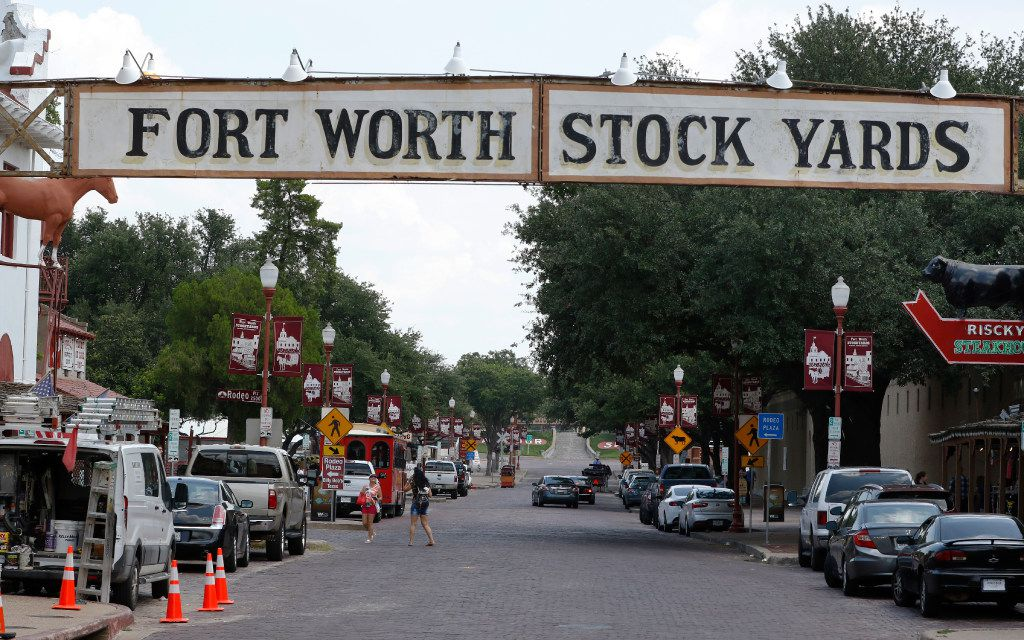 The Fort Worth Stock Yards located at 30 E Exchange Ave in Fort Worth. Fort Worth is where the West begins, and nothing embodies Western heritage better than the Fort Worth Stockyards National Historic District. (David Woo/The Dallas Morning News)