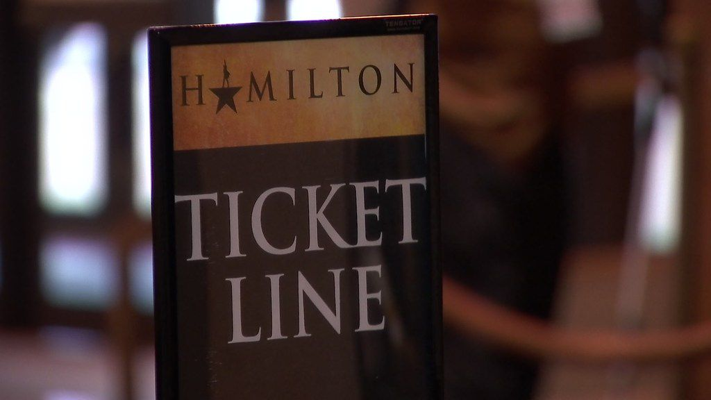 Fans lined up at the Music Hall at Fair Park for their chance to get tickets to Hamilton.