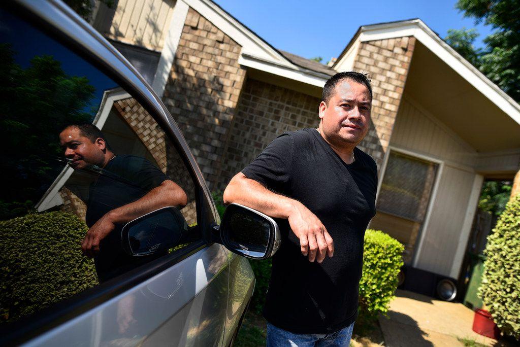 Leonardo Alvarez, 38, outside of his home in Arlington, Monday morning, May 28, 2018. Alvarez, originally of the Mexican state of Guanajuato, had to pay for a $20,000 immigrant bond.