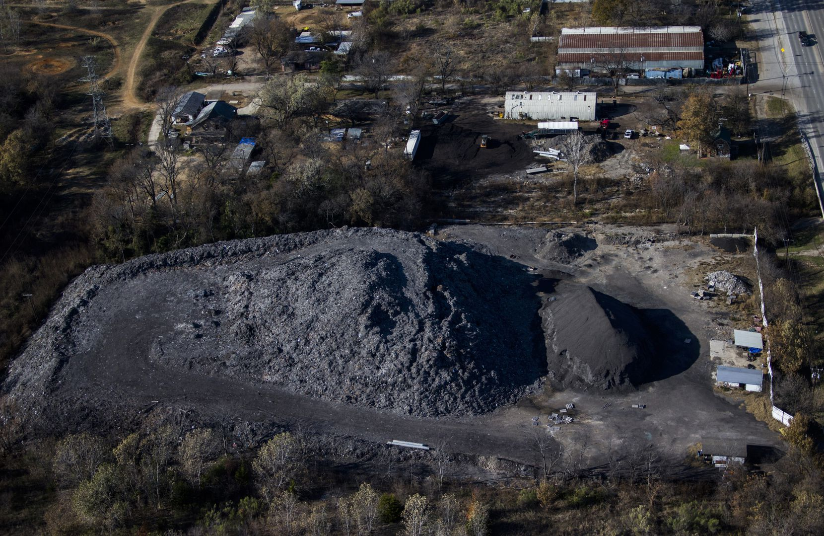 Shingle Mountain, as seen from the air off South Central Expressway and Choate Road on Nov. 19, 2019