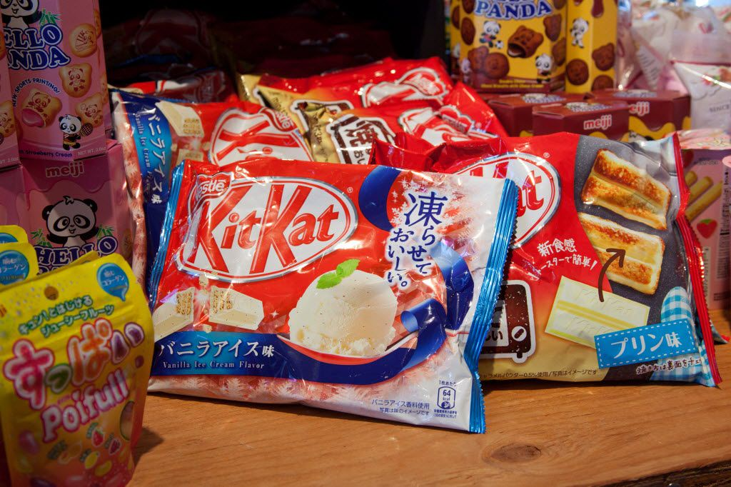 KitKats and other goodies from Japan are among the attractions at Rocket Fizz.