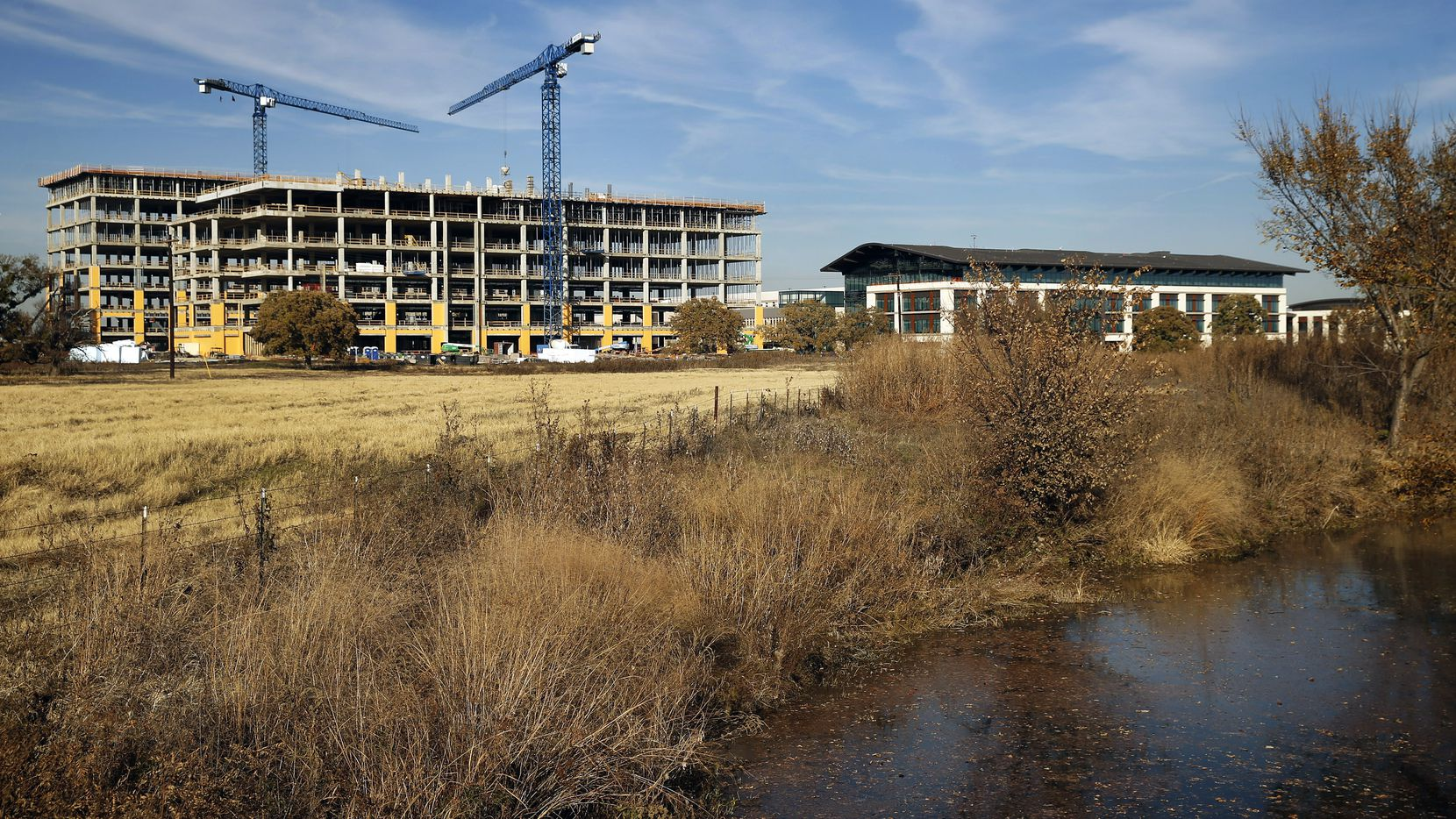 The financial services firm Charles Schwab & Co. is building a new corporate campus in Westlake, Texas, Tuesday, November 19, 2019. The 70-acre site at state highways 114 and 170.