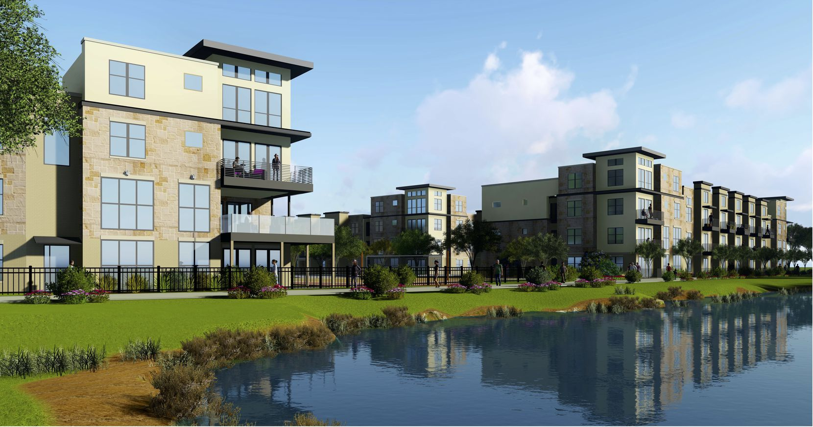 The Mercer Crossing apartment project is north of LBJ Freeway.