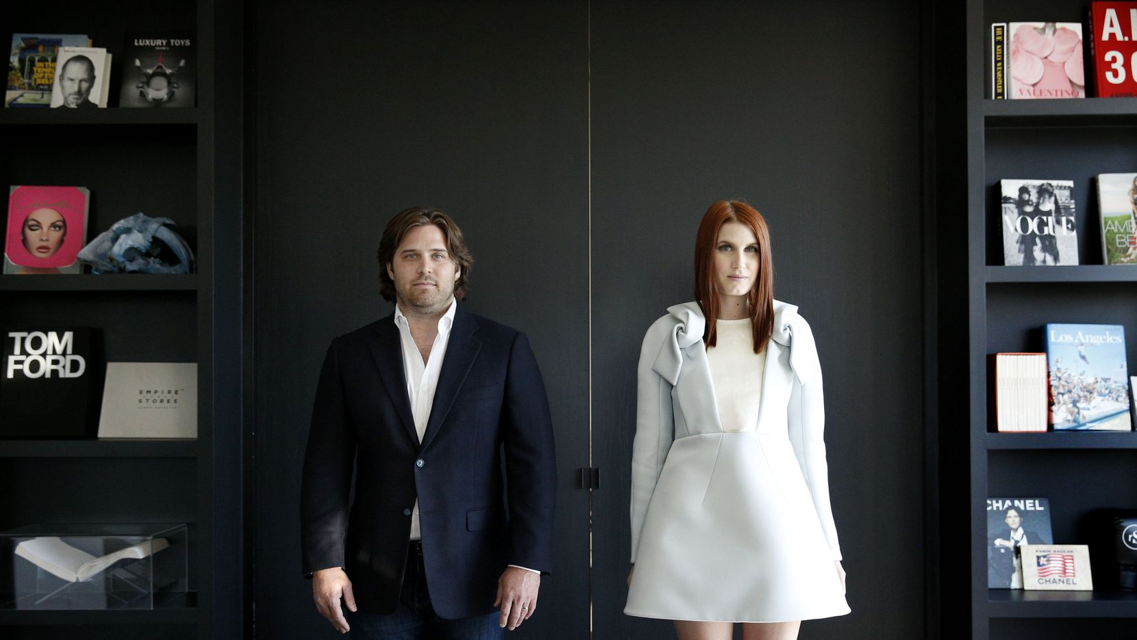 Baxter Box and Amber Venz Box, co-founders of rewardStyle, pose for a photograph in the startup's new offices in The Centrum building in Dallas on April 4, 2016. RewardStyle is one of the most successful start-ups in recent Dallas history. (Rose Baca/The Dallas Morning News)