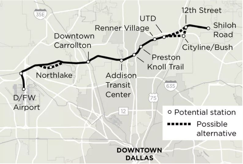 The proposed Cotton Belt
