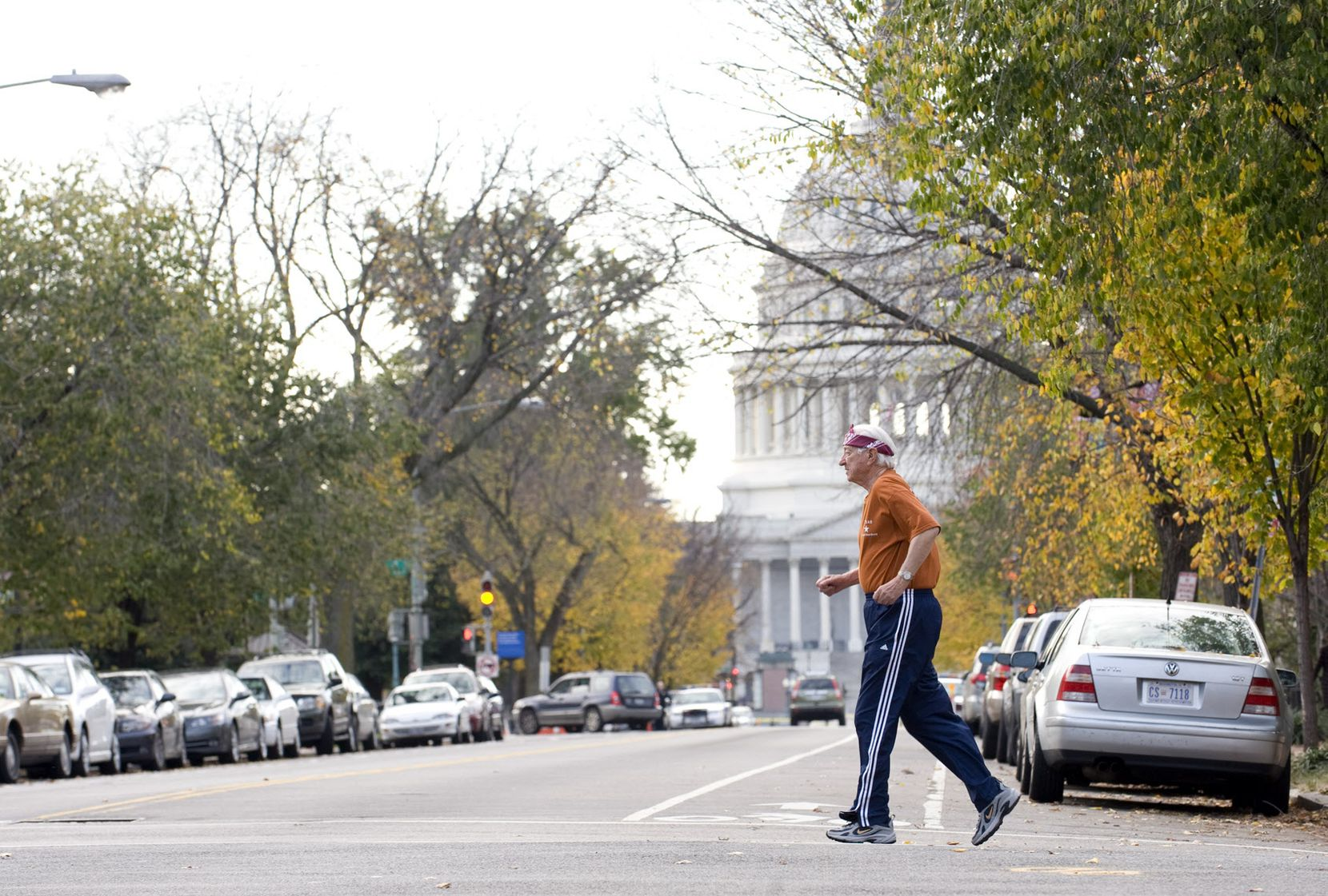 Rep. Ralph Hall, age 86, took his more than 3-mile daily jog from his house on Capitol Hill to RFK Stadium and back on Nov. 2, 2009.