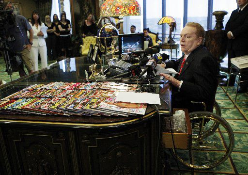 Hustler magazine magnate Larry Flynt spoke at a news conference in July 2007 in Beverly Hills, Calif. He's scheduled to make an appearance at Saturday's grand opening in Lake Highlands of his 25th Hustler Hollywood store.