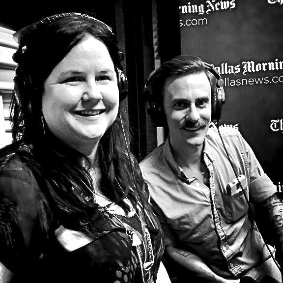 From left: Tina Parker, co-artistic director of Kitchen Dog Theater and Will Evans, founder of Deep Vellum Publishing