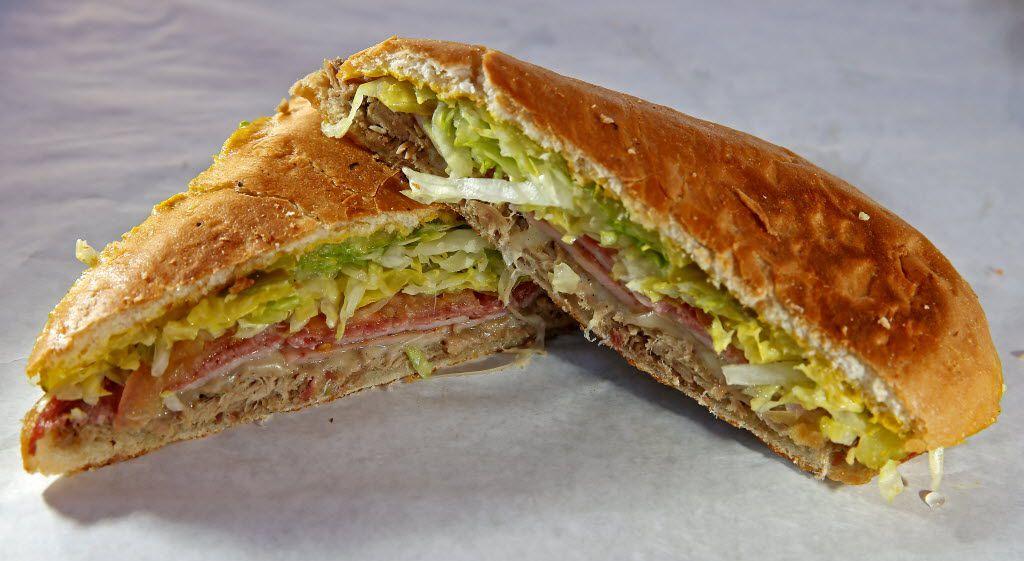 The Key West Mix sandwich at C Señor