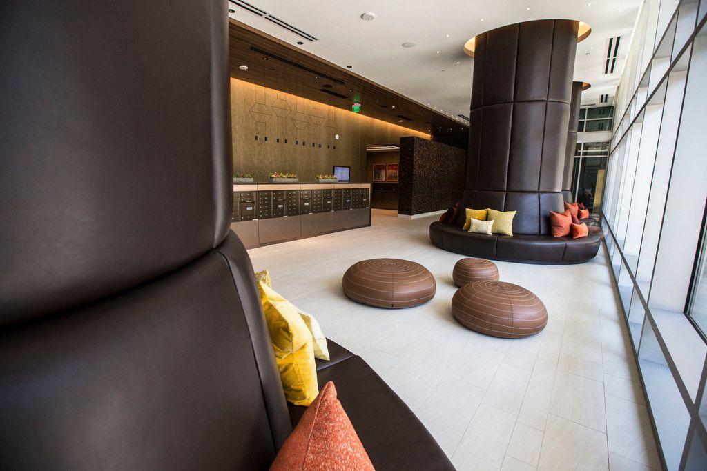 The lobby at Ardan apartments.