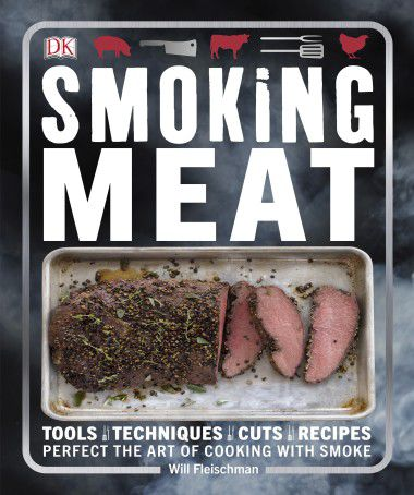 The cover of Will Fleischman's book features a smoked strip of elk loin.