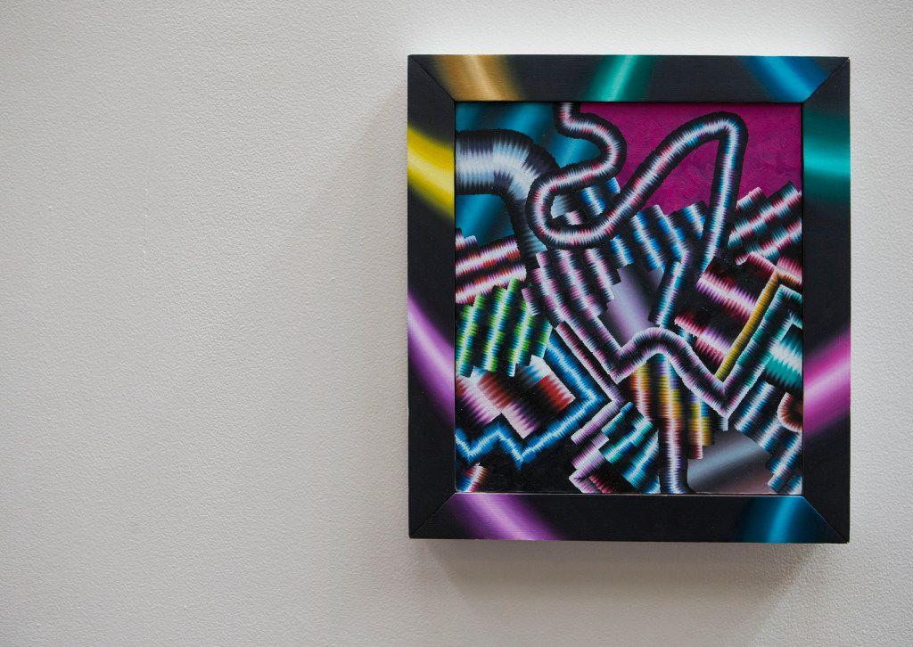 Artwork by Arthur Peña on display at NorthPark Center