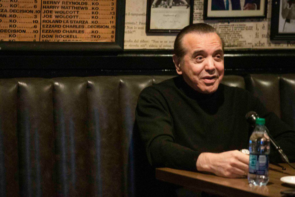 Actor and writer Chazz Palminteri talks at Campisi's Egyptian Lounge on Nov. 13 to promote A Bronx Tale, presented by AT&T Performing Arts Center at the Winspear Opera House from Dec. 26 to Jan. 6.