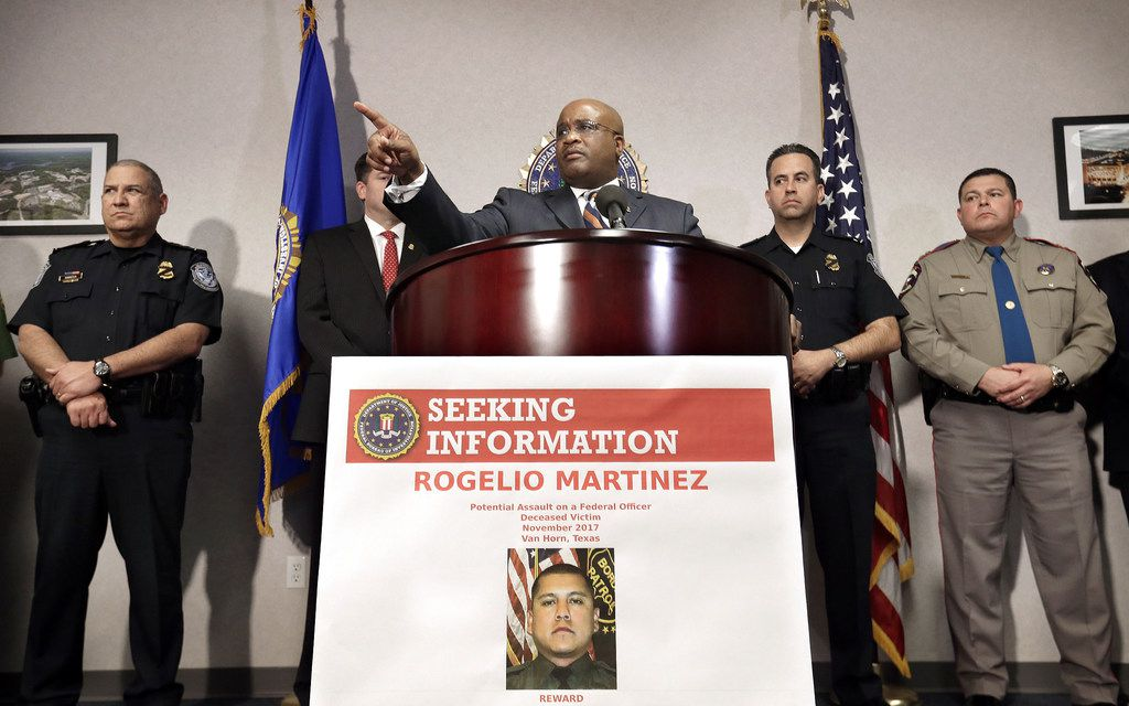 FBI Special Agent in Charge of the El Paso field office Emmerson Buie Jr. speaks during a news conference about the death of a border patrol agent and the severe injuries of a second agent.