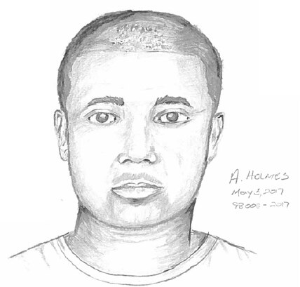 Police on Friday released a sketch of the suspect wanted in connection with the assault.