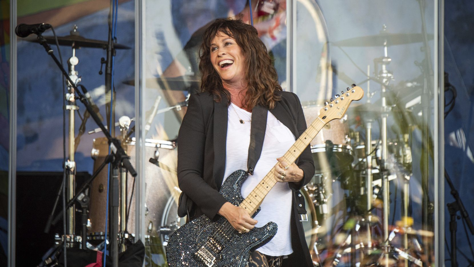 Alanis Morissette performs at the New Orleans Jazz and Heritage Festival on Thursday, April 25, 2019, in New Orleans.
