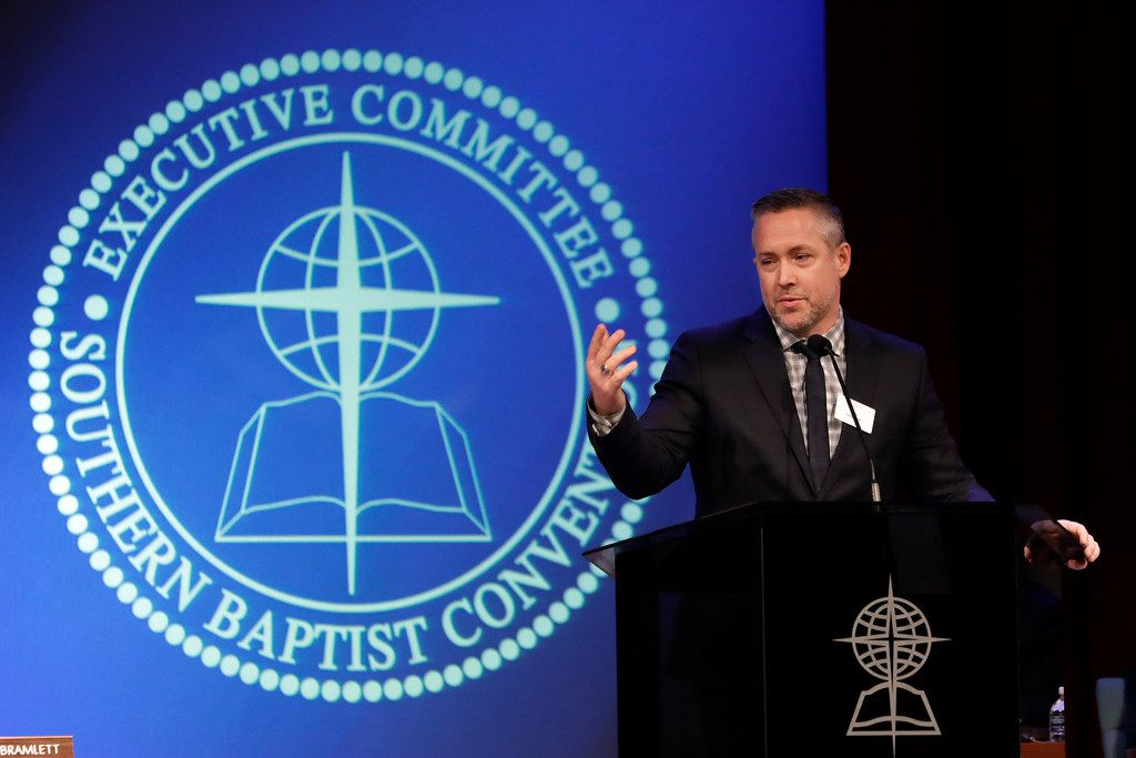 Southern Baptist Convention President J.D. Greear spoke to the denomination's executive committee on Feb. 18 in Nashville.
